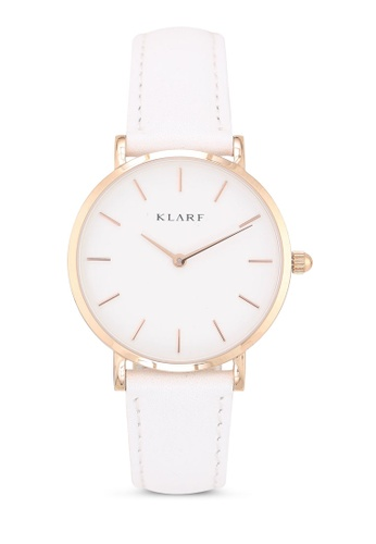Klarf white Petite Watch With Leather Bracelet 99F4FACA3DD62FGS_1