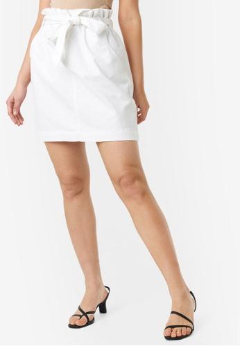 NA-KD 白色 Paper Bag 腰圍 牛仔裙 70477AA376CA81GS_1