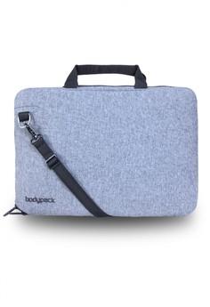 harga Bodypack Denim Laptop Case 14inch - Grey Zalora.co.id