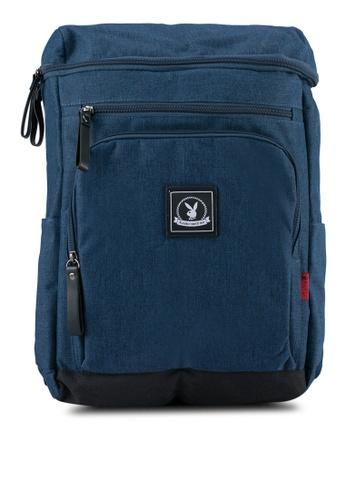 Playboy blue Playboy Casual Backpack PL371AC0SJZIMY_1