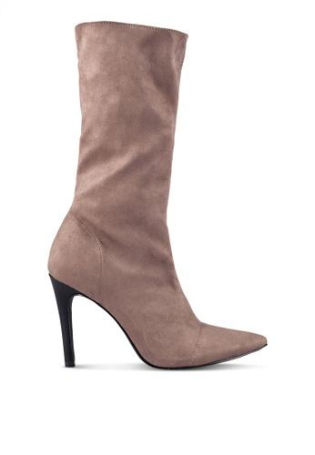 ZALORA brown and beige Long Boots A0BC1ZZA1E51DCGS_1