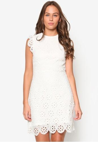 蕾絲直筒洋裝, 服飾esprit服飾, 洋裝