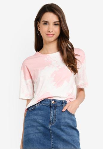 LC Waikiki 粉紅色 Short-袖 Batik Print T-襯衫 C4E72AA02C6179GS_1