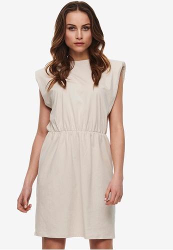 ONLY grey Jen Life Sleeveless Shoulder Dress 3F069AA2F664E0GS_1