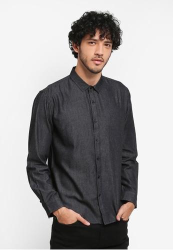JAXON black Back Graphic Shirt C7505AACD9D3F6GS_1