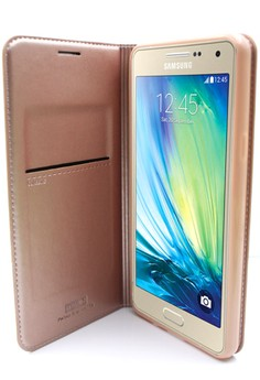 Mobile Leather Cover with Stand For Samsung Galaxy A510