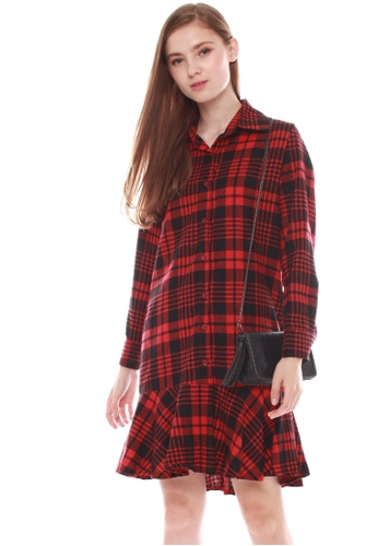 JOVET red Check Dress JO914AA0GZC5SG_1