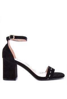 Own Works Open Toe Ankle Strap Block Mid Heel Sandals Salem Daftar Source · Gibi black
