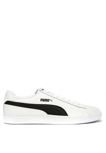 Puma white Puma Smash V2 L Sneakers FE693SH10AB1E9GS_1