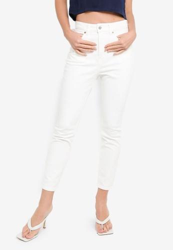 H&M white Skinny High Jeans AA5C8AAB1465F8GS_1