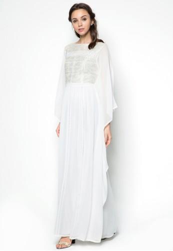 蕾絲寬袖長洋裝, 服esprit 香港 outlet飾, 洋裝
