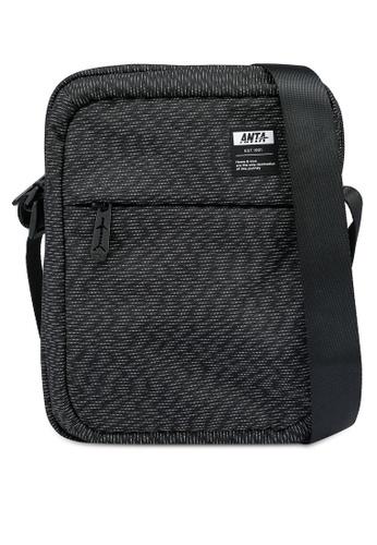 Anta black Great Traveller Satchel Bag B4B82ACB71F4F3GS_1
