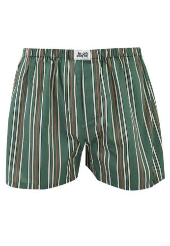 Les Girls Les Boys green Stripe Boxers 77872US2A4F85FGS_1