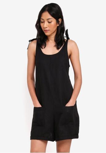 Supre black Lexi Tie Shoulder Romper 12D01AA8086C2AGS_1