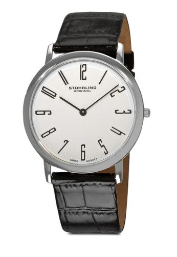 Belmont 數字鱷魚紋真皮手錶, 錶esprit 西裝類, 皮革錶帶
