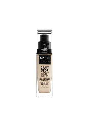 NYX Professional Makeup brown NYX Professional Makeup Can't Stop Won't Stop 24HR Foundation - PALE FEE69BE5A816F8GS_1