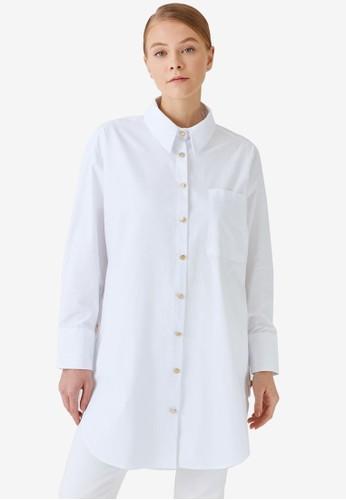 Trendyol white Shirt Button Tunic C9EC3AA03260B1GS_1
