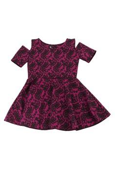 Bella Cold Shoulder Fit & Flare Dress