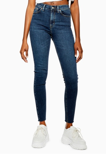 6bb4e772ddf TOPSHOP blue Vintage Indigo Raw Hem Jamie Jeans (Short Fit)  386F1AAB4B68E7GS 1