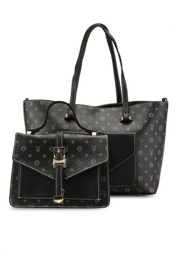 PLAYBOY BUNNY black 2 in 1 Ladies Bag 419BFACE239A06GS_1