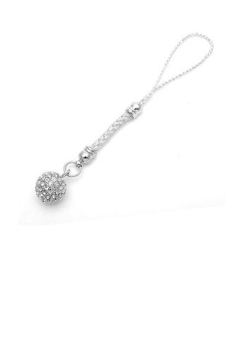 Glamorousky silver Elegant Ball Strap with Silver Austrian Element Crystals 2DB05AC091F703GS_1