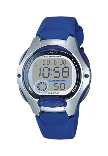 CASIO blue Casio Kid's Digital LW-200-2AVDF Blue Resin Band Casual Watch 88948AC163D4ADGS_1