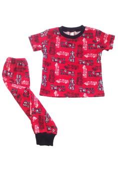 Firetrucks Pajama Set