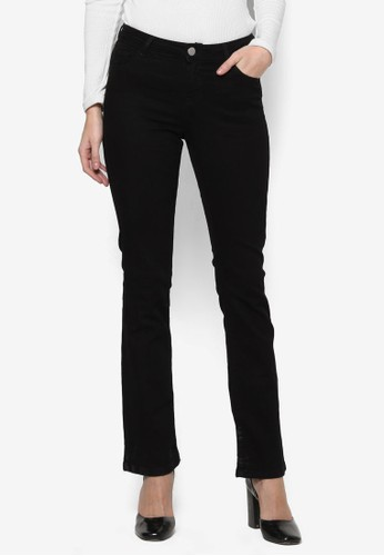 Buy Dorothy Perkins Regular - Black Bootcut Jeans Online | ZALORA ...