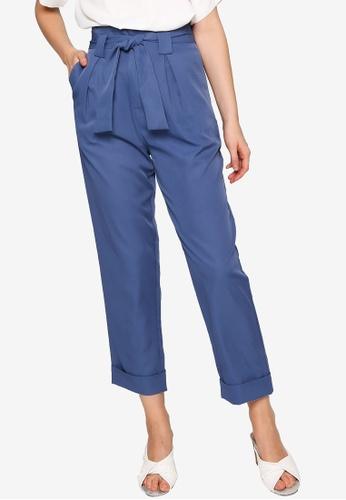 ZALORA WORK blue Self Tie Long Pants B4660AAECB2064GS_1