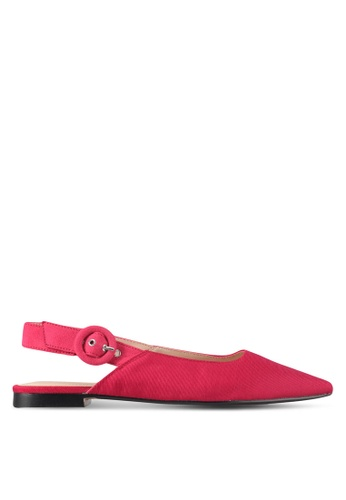 Mango pink Texture Pointed Slingback Shoes D8C86SH6C15A6EGS_1