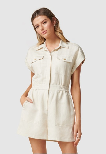 Forever New yellow Eleanor Utility Playsuit B154DAAAA37297GS_1