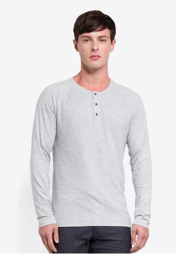ESPRIT 灰色 長袖T恤 E7C05AA7F56651GS_1