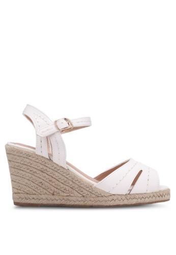 Bata white Strappy Wedge Sandals BA156SH0RY6CMY_1