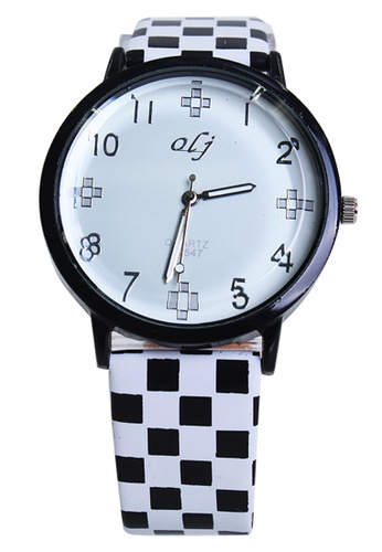 World of Watches white OLJ Mattie Women's Leather Strap Watch LFW020 WO566AC92TYTPH_1