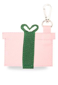 Gift Box Peach Keychain/Bag Charm