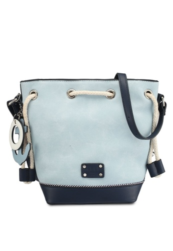 ELLE blue and navy Cruise Sling Bag E9EEAACC3A2A10GS_1