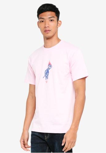 OBEY 粉紅色 短袖印花T恤 05B94AA265D523GS_1