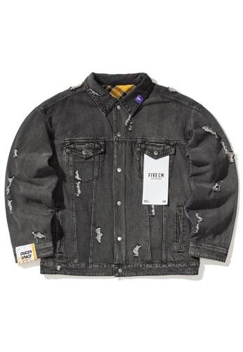 Fivecm black Reversible denim jacket C3EABAAD8F4E43GS_1