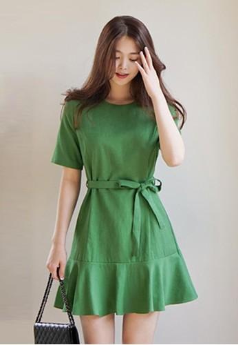 繫腰esprit品牌介绍迷你連衣裙, 服飾, 洋裝