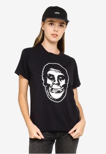 OBEY black Misfits Teenagers From Mars T-Shirt 577C6AA880D5AEGS_1