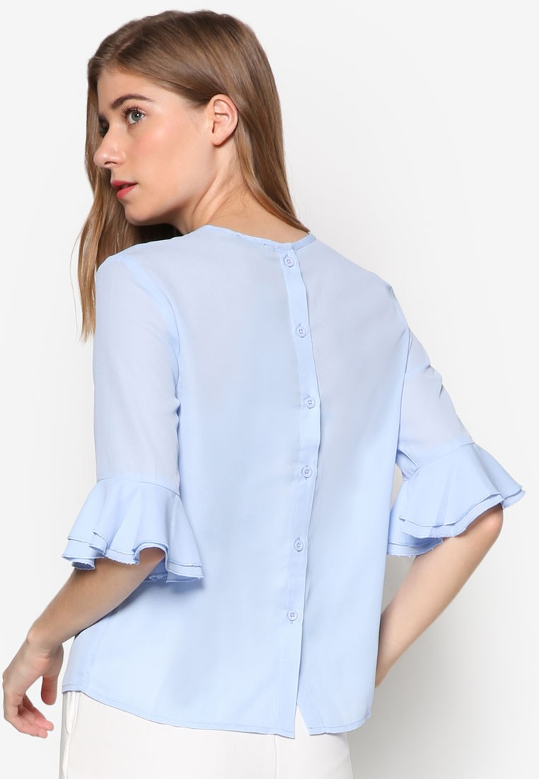 Essential Frill Sleeve Blouse