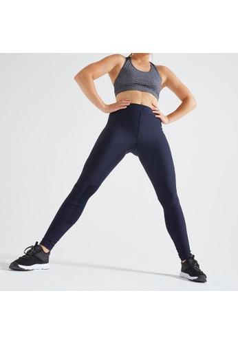 Decathlon Fitness Leggings with Phone Pocket Blue - 8562180 5B01BAAA3B4D8AGS_1