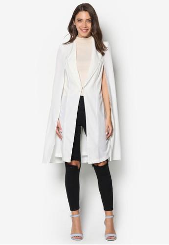 開衩袖長版esprit outlet 桃園西裝外套, 服飾, 外套
