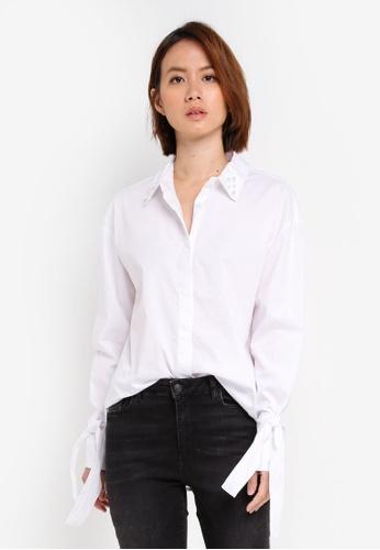 OVS white Long Sleeve Shirt 67342AA2156F22GS_1