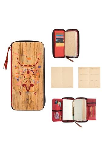 Jacinto and Lirio multi Zippered Refillable Vegan Leather Fiesta Traveler's Notebook 57126HL7E3A440GS_1