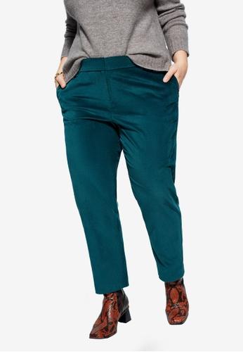 Violeta by MANGO green Velvet Suit Trousers B777FAAB12B63BGS_1