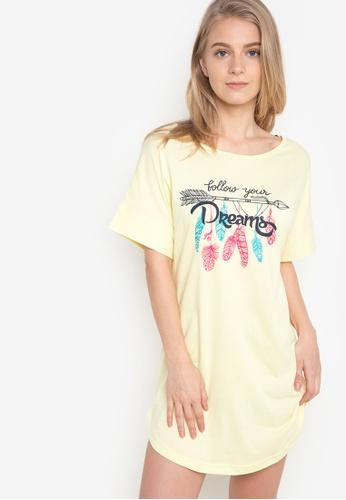Verve Street yellow Kar Sleep Shirt VE915AA58CKJPH_1
