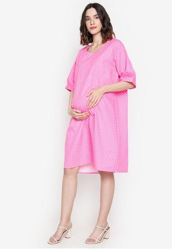 Amelia pink Maternity Trixie Dress B31D7AAF2144CBGS_1