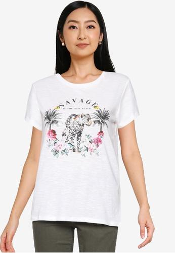 Springfield white Savage T-Shirt AFA71AA0B579BBGS_1