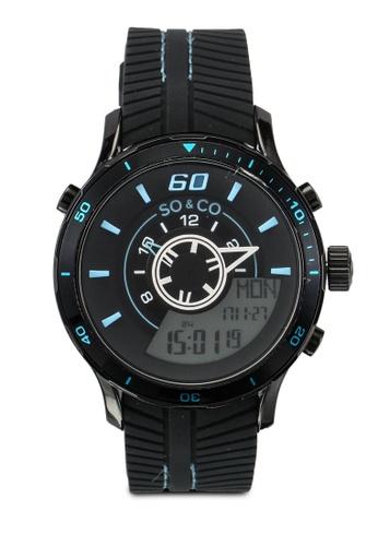SO&CO black Monticello Watch 5035 SO540AC0SHM7MY_1